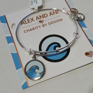 Alex and Ani Ocean Wave 🌊 Force bracelet